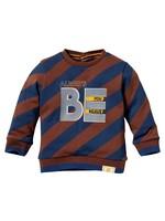 Quapi Sweater Leo AOP Chestnut Diagonal Stripe