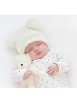 Romkje Gebreid Baby Mutsje met Pompom
