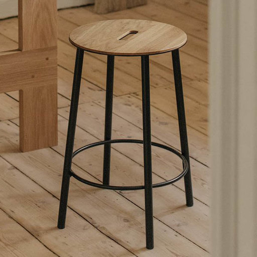 Frama CPH Adam Stool RO31 Oak Black H50
