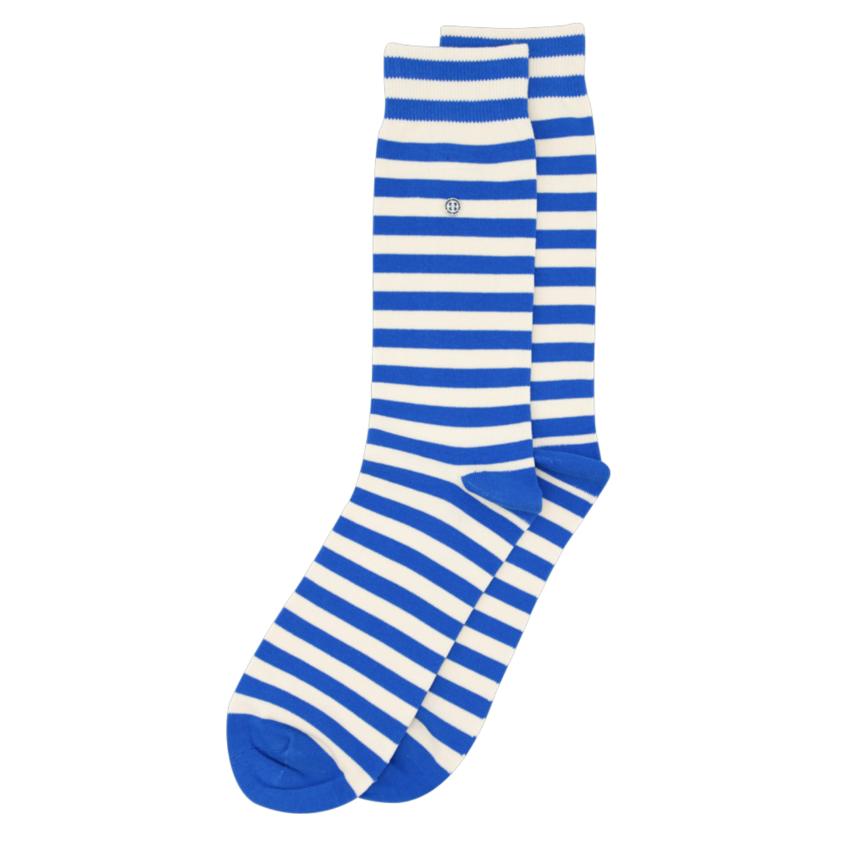 Alfredo Gonzales Harbour Stripe Socks Blue