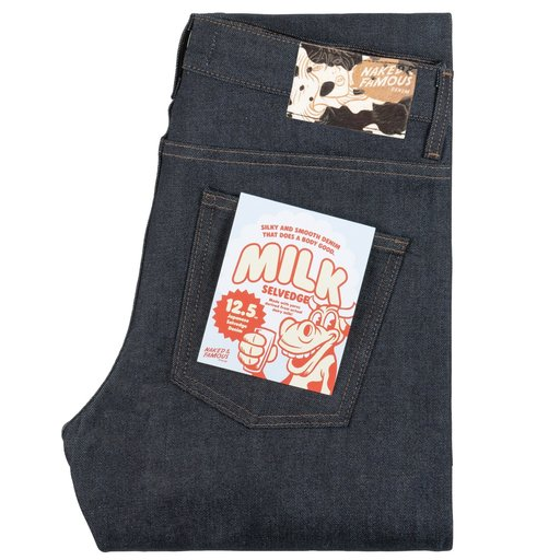 Naked & Famous Denim SuperGuy Milk Selvedge