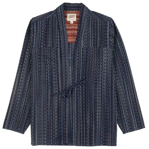 Naked & Famous Denim Kimono Shirt Kasuri Sashiko