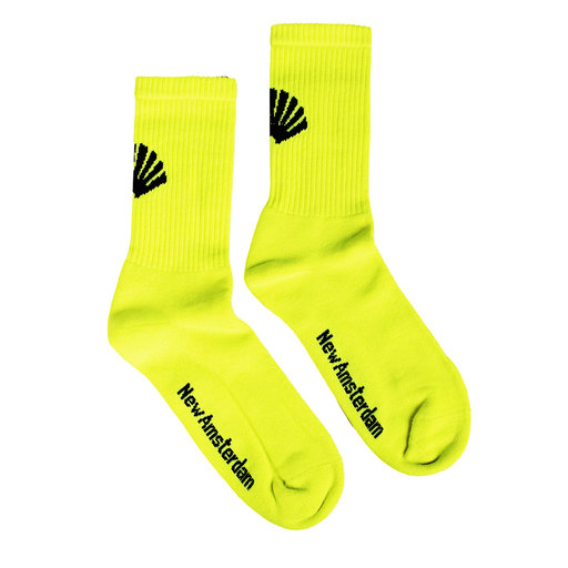 New Amsterdam Surf Association  Logo Socks Neon