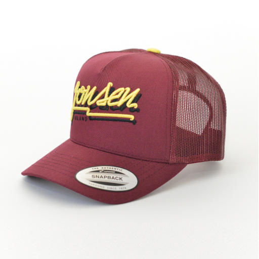 Jonsen Island Bubble Burgundy Trucker