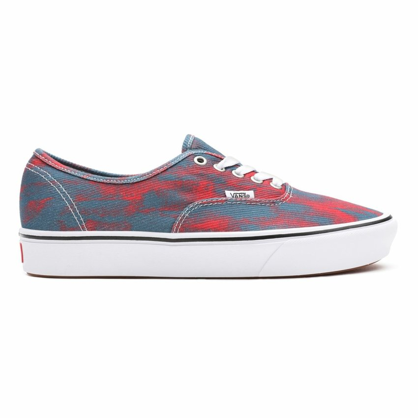 Vans  Comfycush Authentic In Bloom Blue/Red