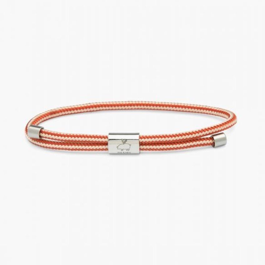 Pig & Hen Little Lewis Coral Red Silver