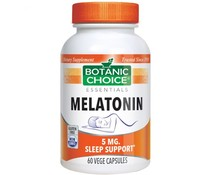 3 PACK Swanson Melatonine 5 mg, 60 vege caps (180 capsules)