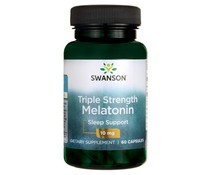 3 PACK Swanson Melatonin 10 mg, 60 vege caps (180 capsules)