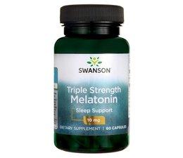 3 PACK Swanson Melatonin 10 mg, 60 vege caps (180 capsules)