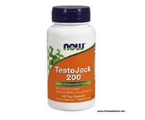 NOW TestoJack 200, 60 Veg Capsules