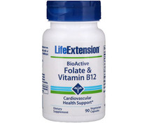 Life Extension, BioActive, Folate & Vitamin B12