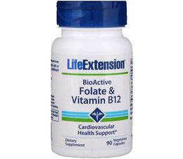 Life Extension, BioActive, Folate & Vitamin B12
