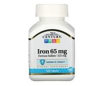 21st Century, Iron, 65 mg, 120 Tablets