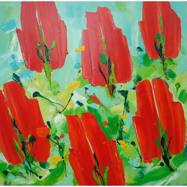 Ad van Hassel Rode tulpen