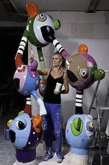 Vrolijke sculpturen in verschillende formaten