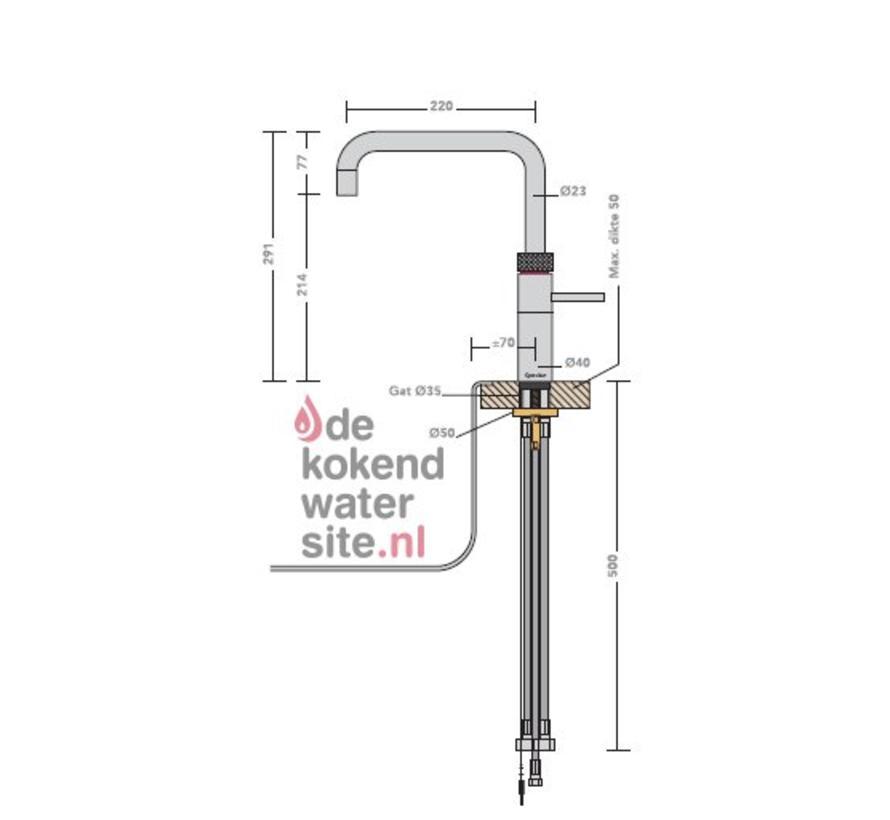 Fusion Square Zwart met PRO3-VAQ reservoir