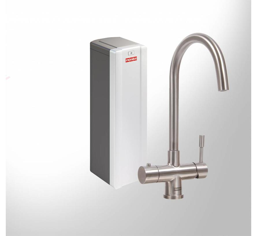 Premium3 Twist Helix RVS met Combi-S boiler