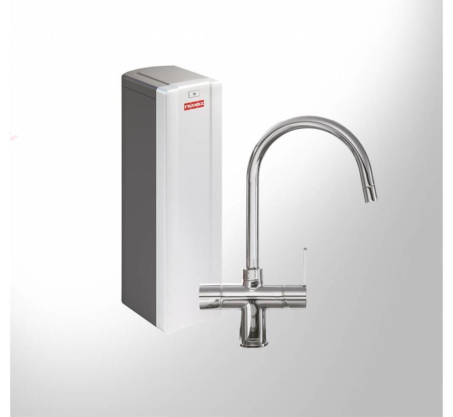 Premium3 Twist Minerva chroom met Combi Xcellent boiler