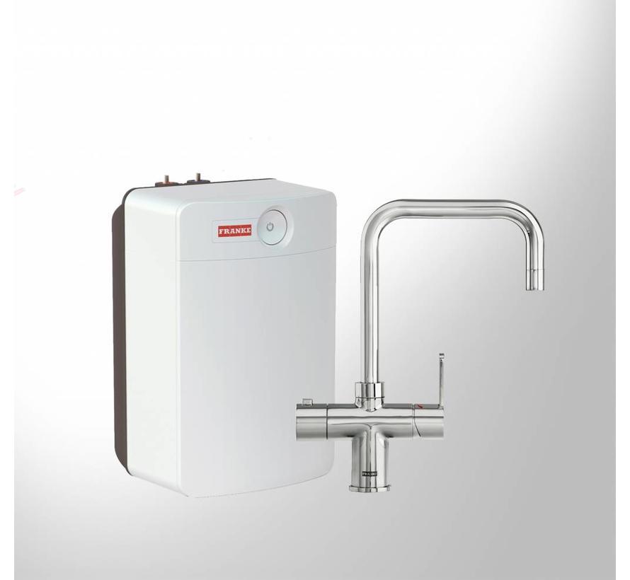 Premium3 Twist Irena chroom met Combi XL boiler