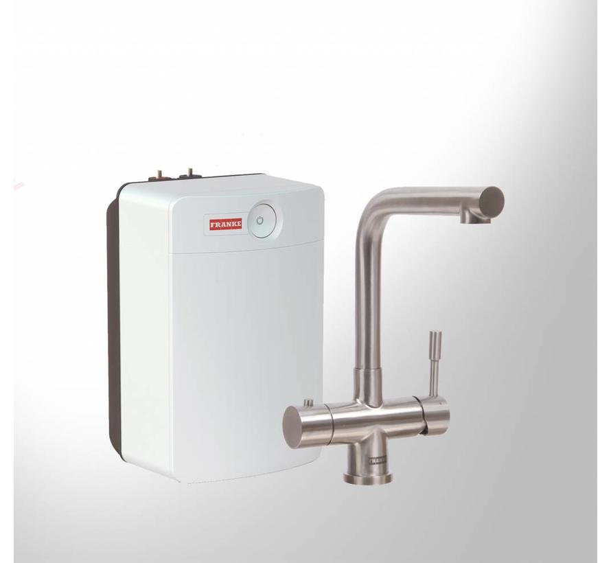 Premium3 Twist Mondial RVS met Combi XL boiler