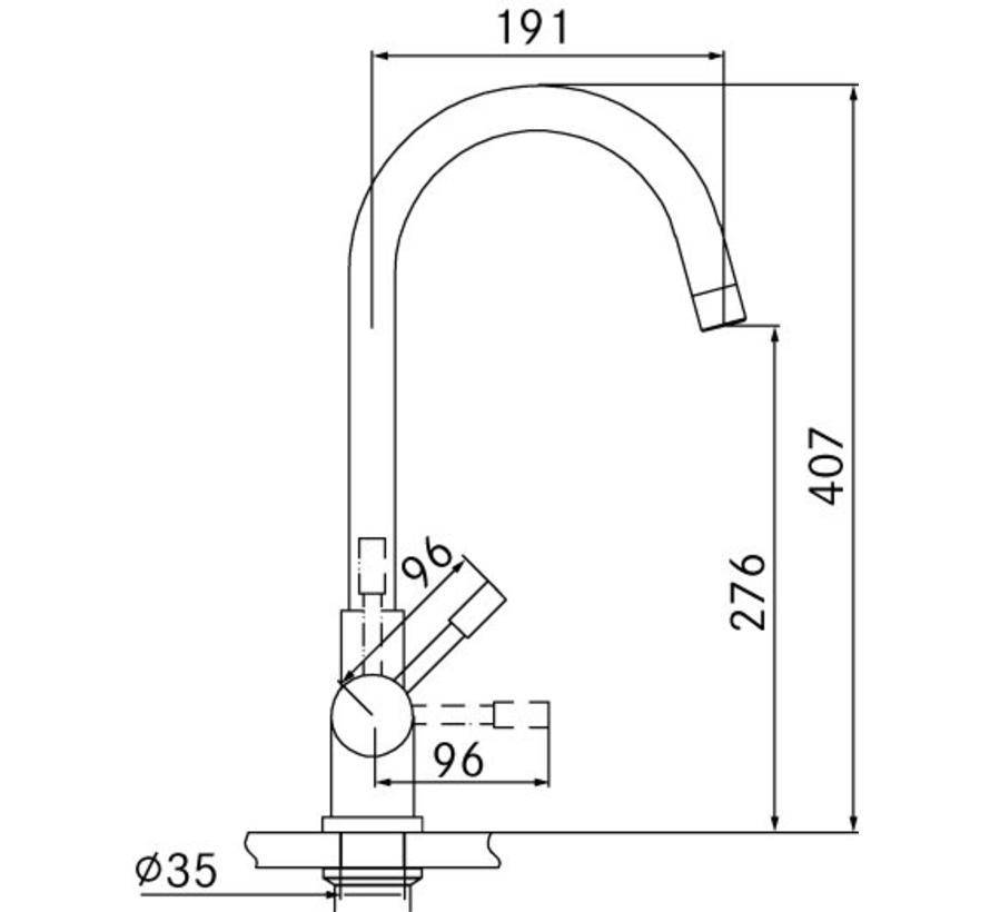 Premium3 Twist Helix RVS met Combi Xcellent boiler