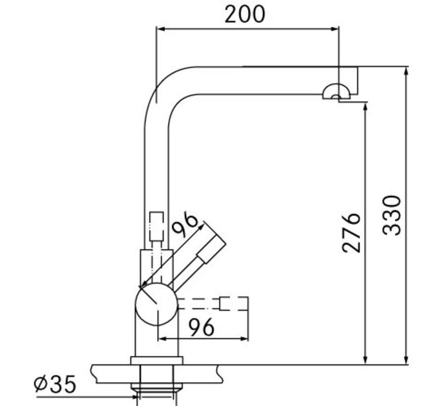 Premium3 Twist Mondial RVS met Combi-Xcellent boiler