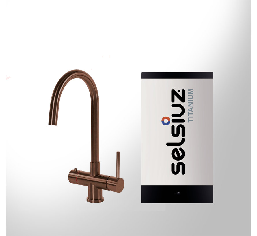 Copper Rond met Titanium Single boiler 5 liter