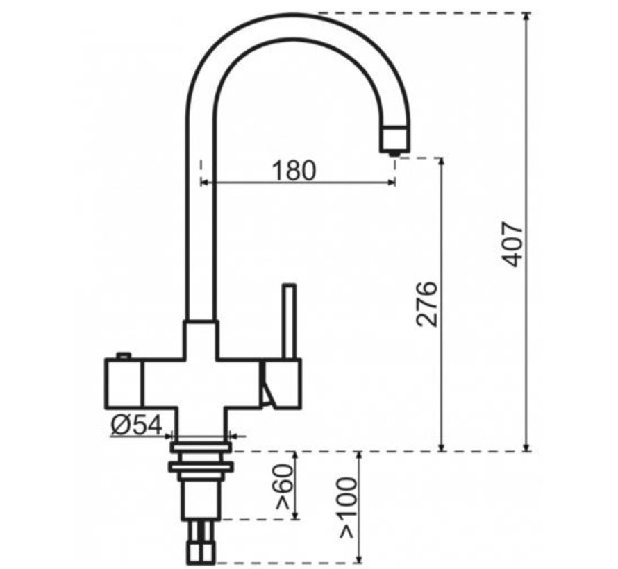 Copper Rond met Combi boiler