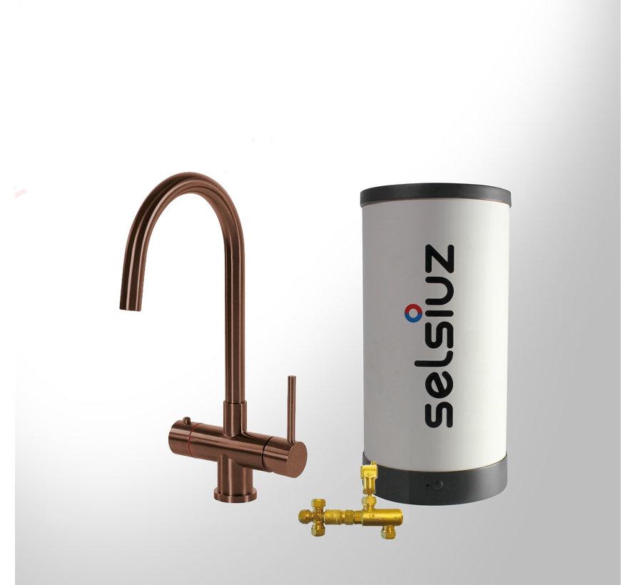 Copper Rond met Combi boiler 5 liter