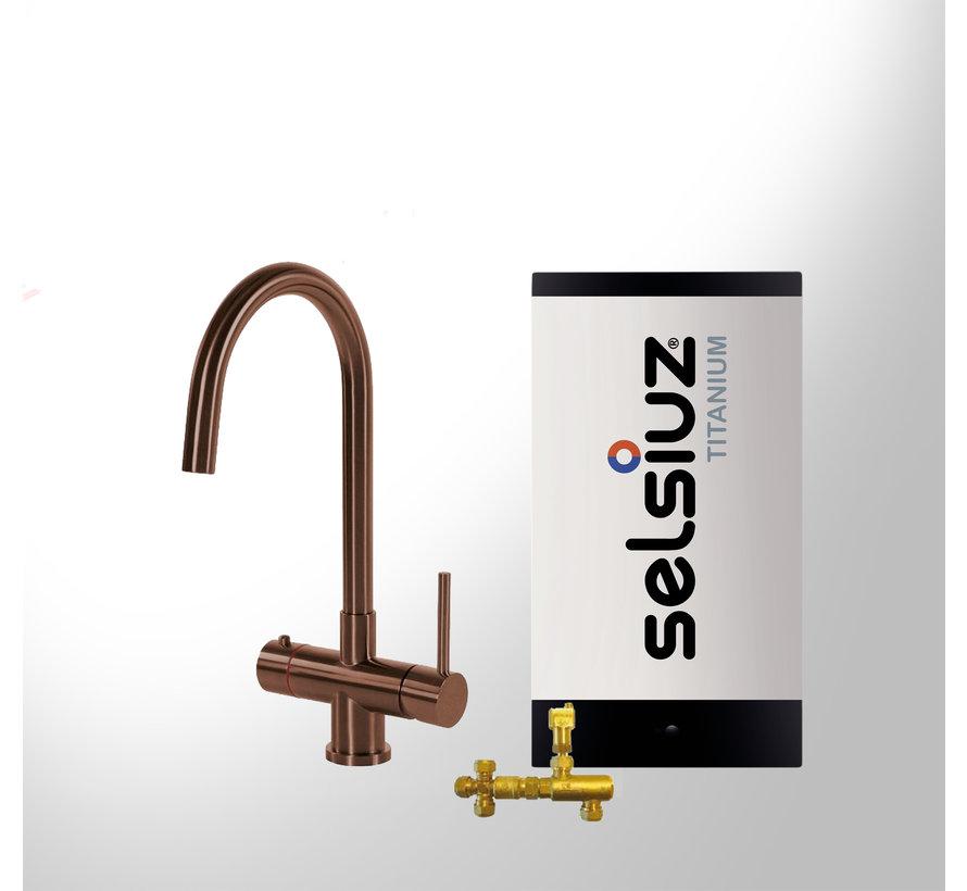 Copper Rond met  Titanium Combi boiler 5 liter