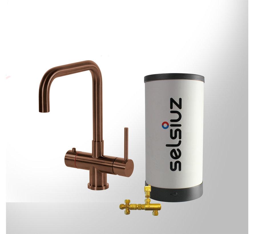 Copper Haaks met Combi boiler