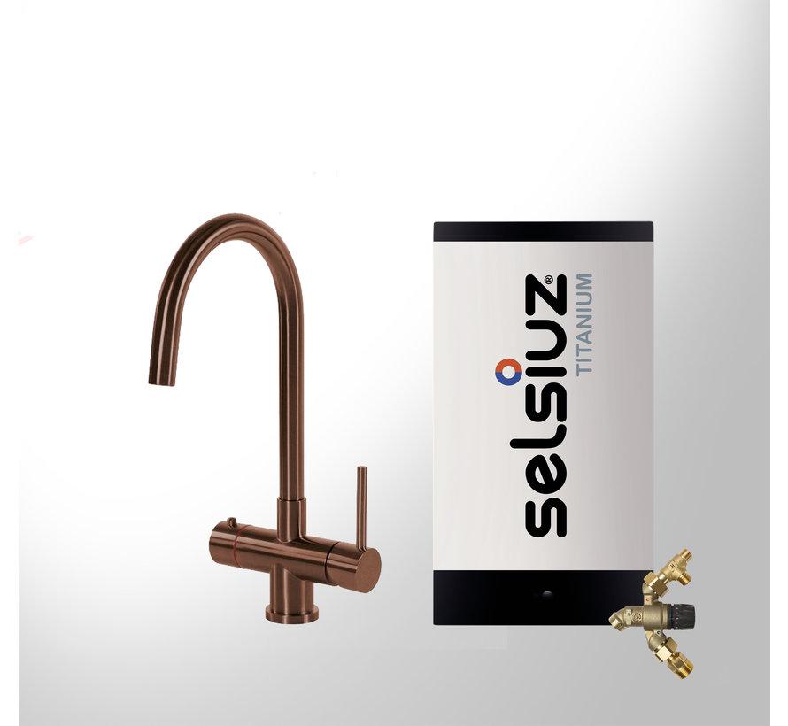 Copper Rond met Titanium Combi Extra boiler 5 liter