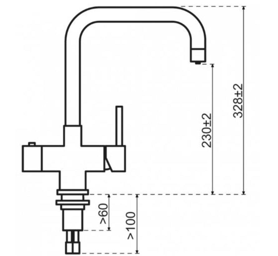 Copper Haaks met Titanium Combi Extra boiler 5 liter