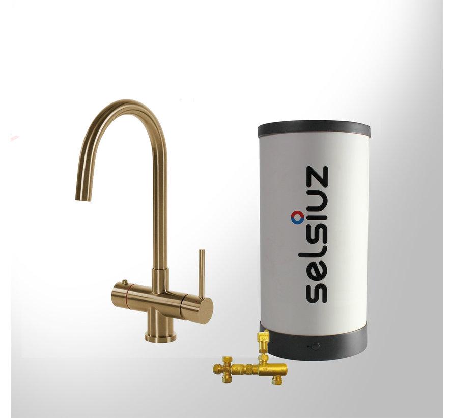 Gold Rond met Combi boiler