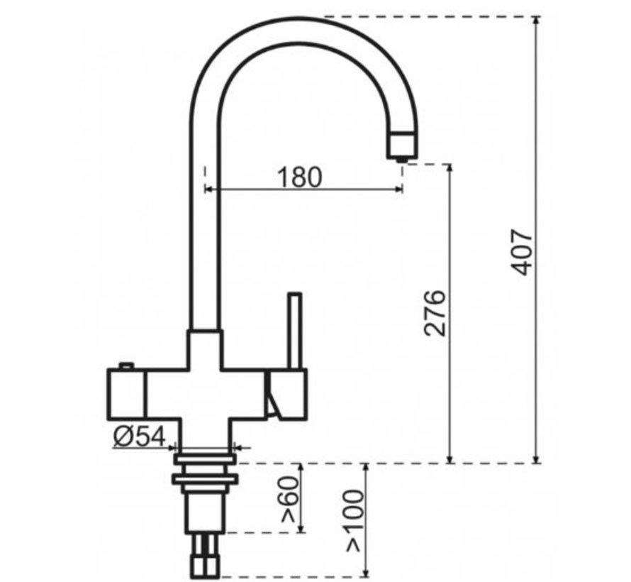 Gold Rond met Titanium Combi boiler 5 liter