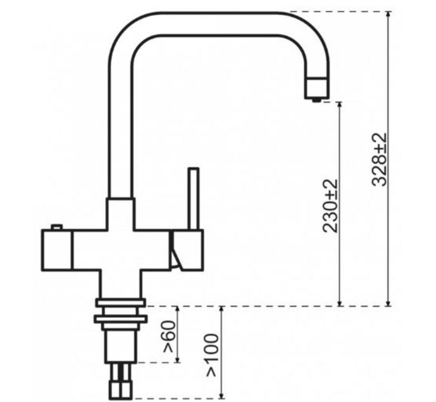 Gold Haaks met Combi boiler