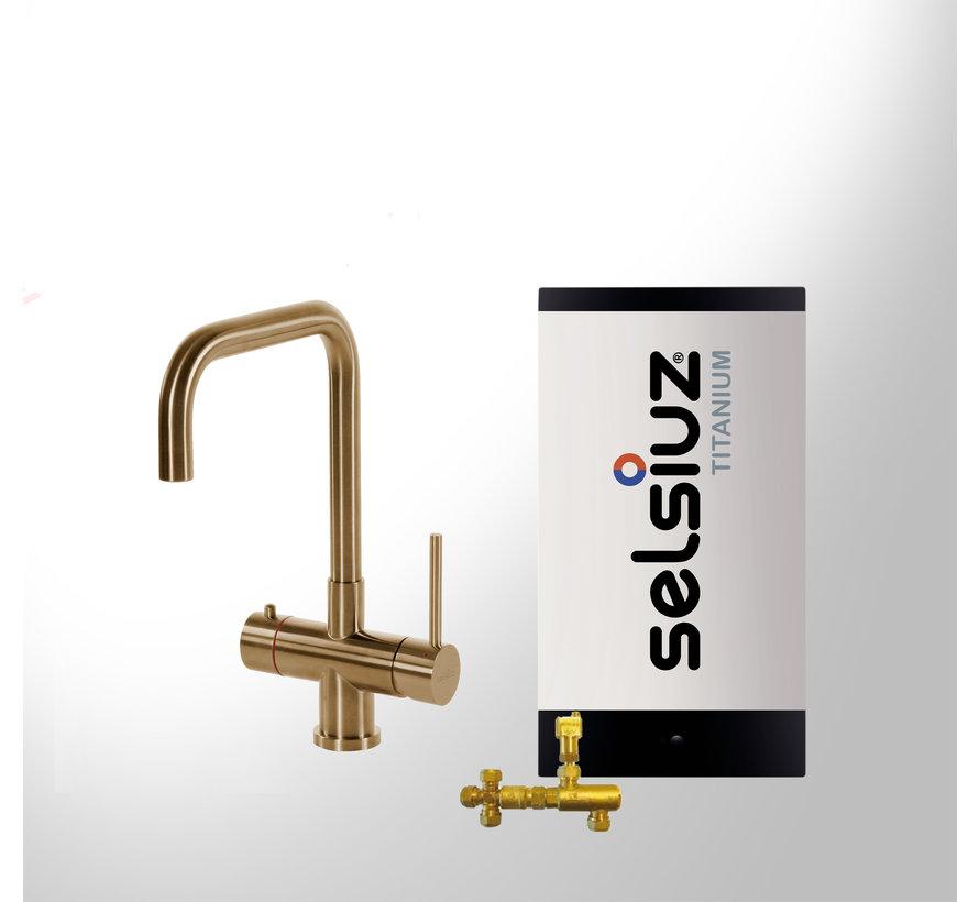 Gold Haaks met Titanium Combi boiler 5 liter