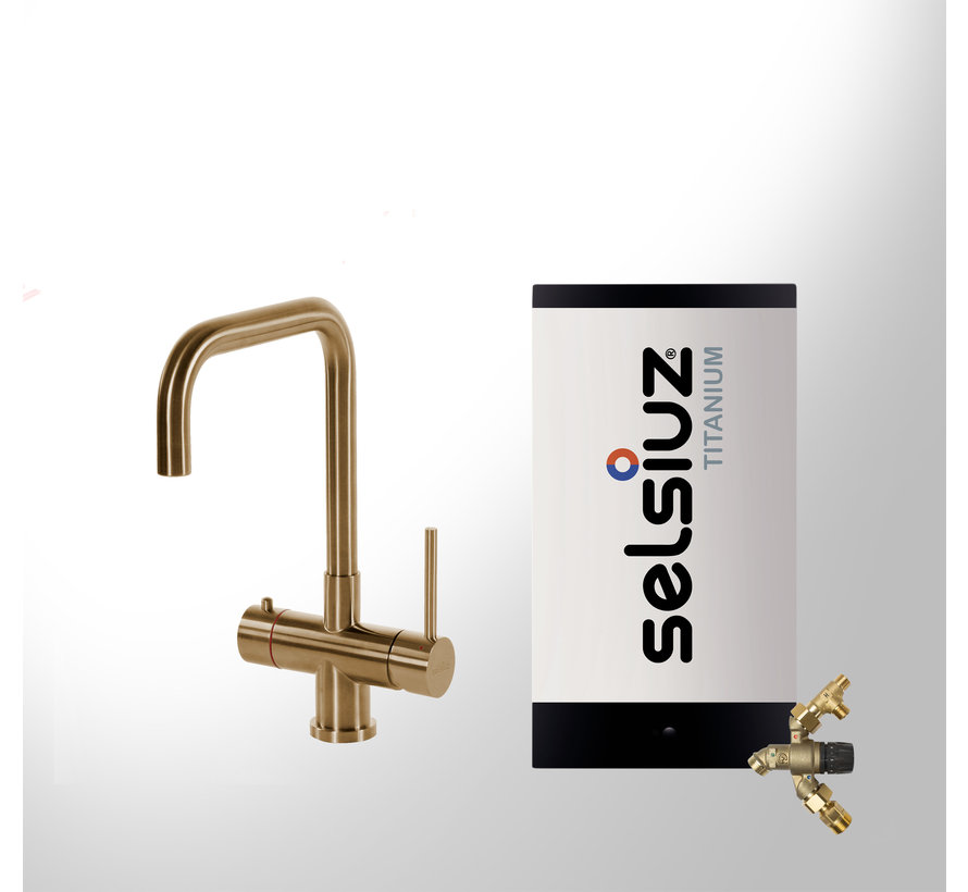 Gold Haaks met Titanium Combi Extra boiler 5 liter