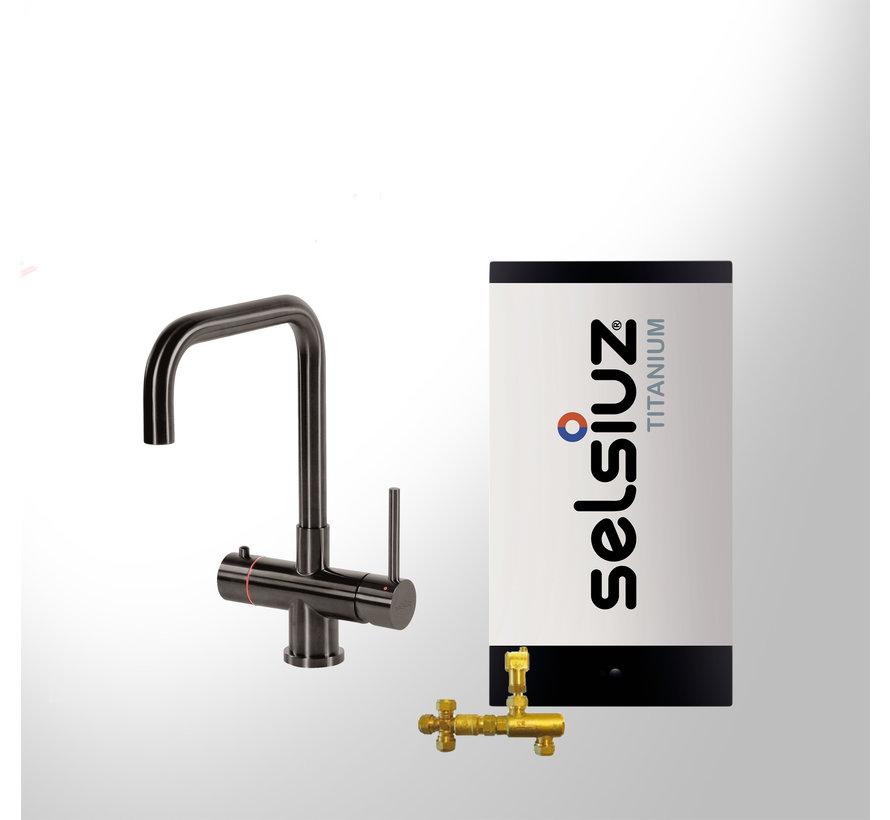 Gun Metal Haaks met Titanium Combi boiler 5 liter