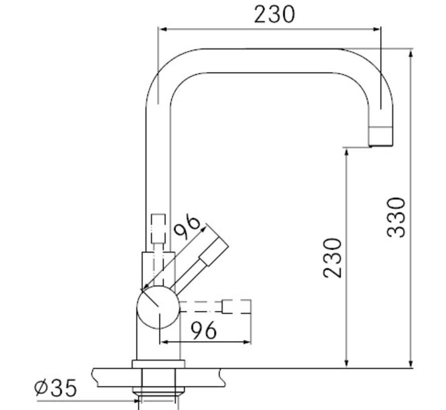 Premium3 Twist Pollux Black met Combi-S boiler