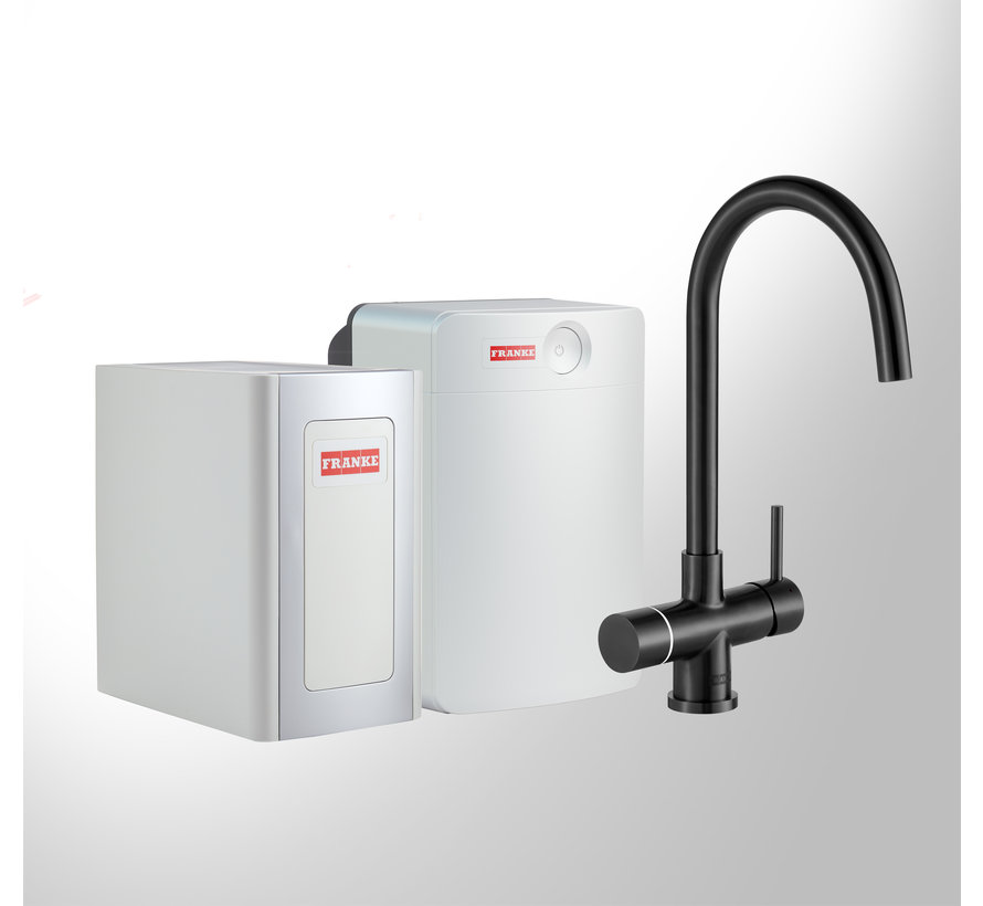 Perfect 4 Chilled Touch Helix Black met Combi-XL boiler