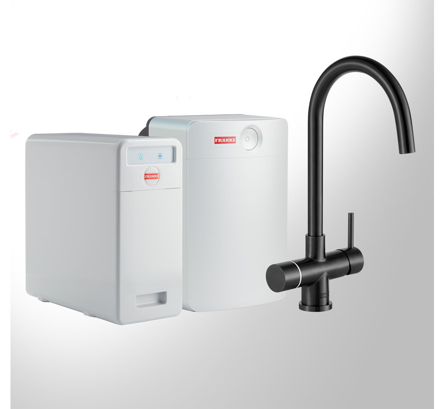 Perfect 5 Touch Helix Black met Combi-XL boiler