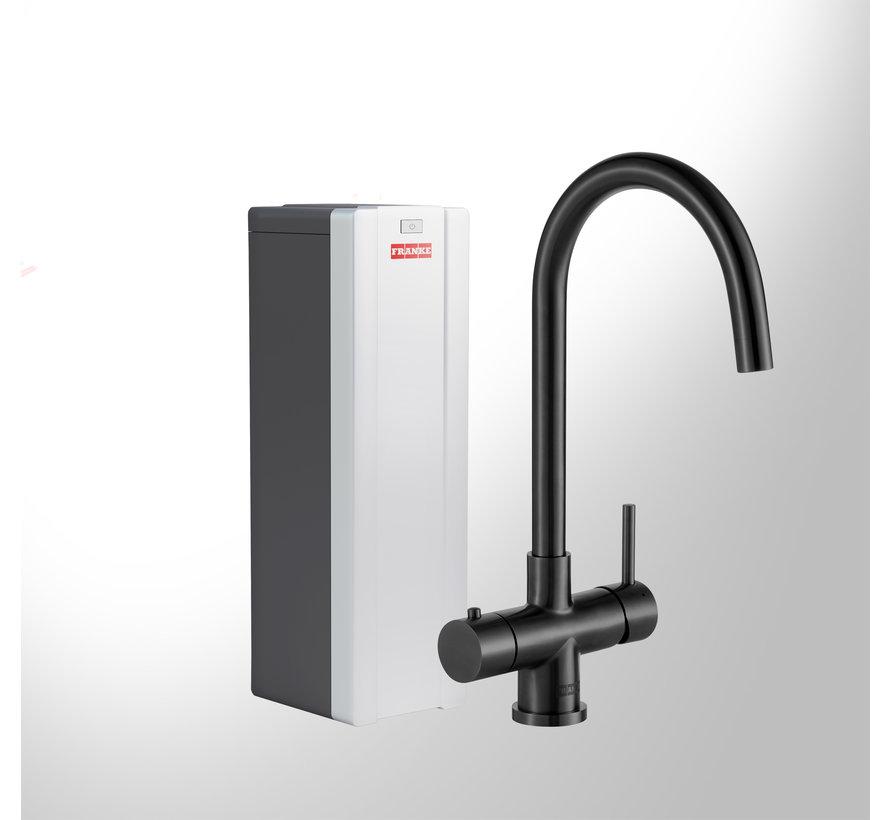 Premium3 Twist Helix Black met Combi-Xcellent boiler