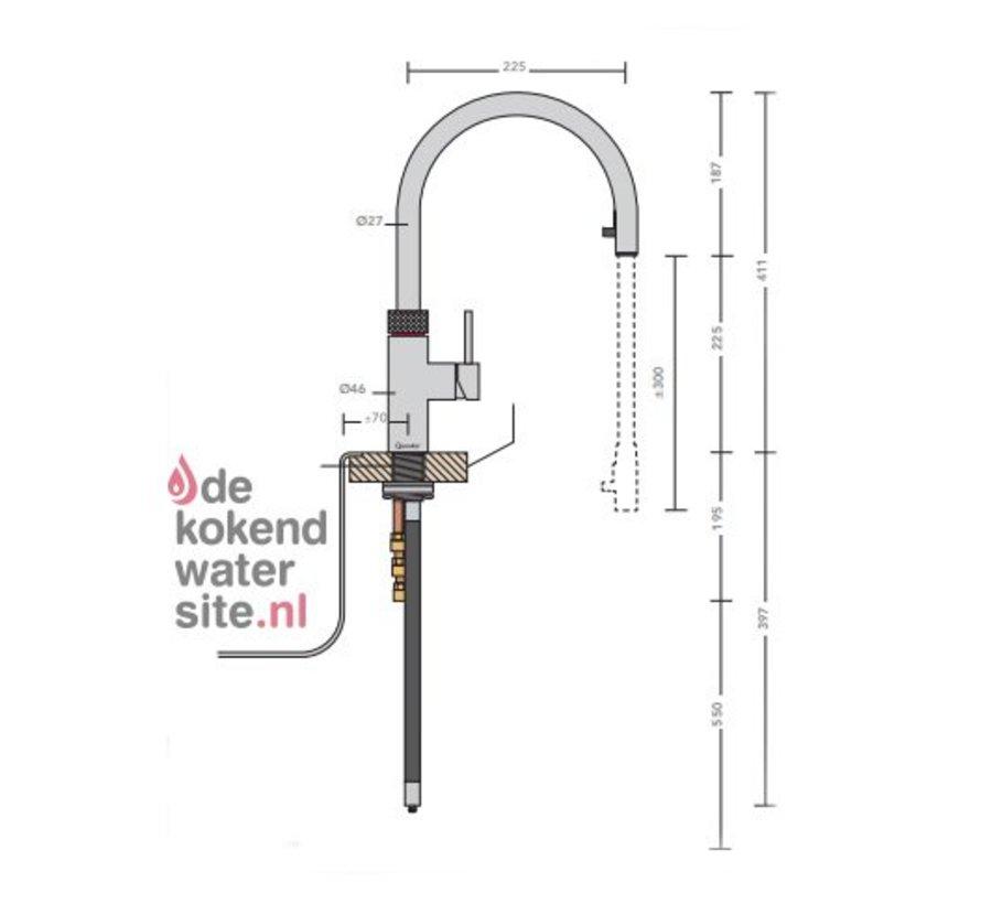 Flex Zwart met COMBI reservoir