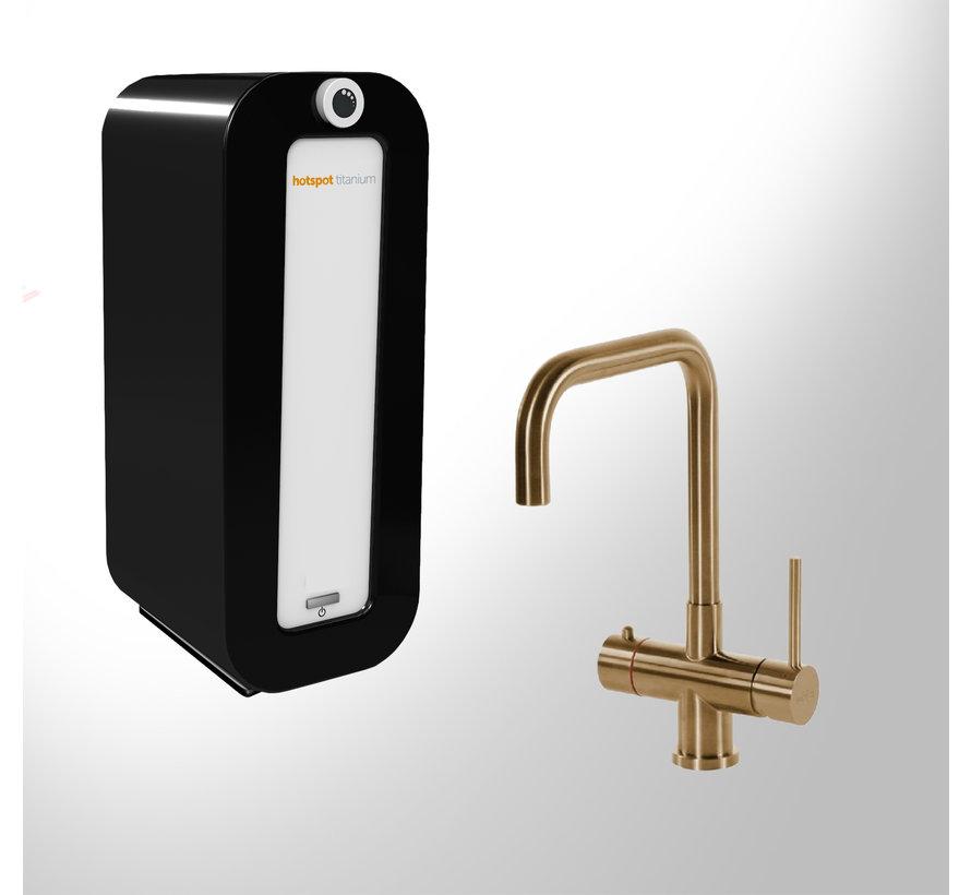 Calisto  Gold met Combi Titanium boiler