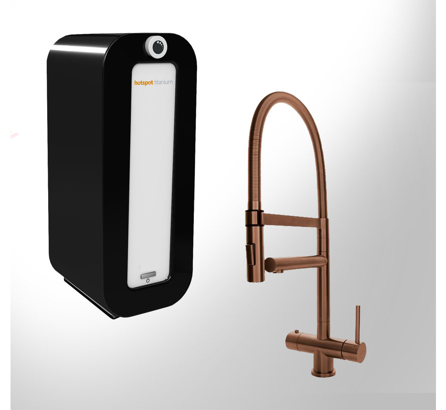 Copper XL met Combi PLUS Titanium boiler