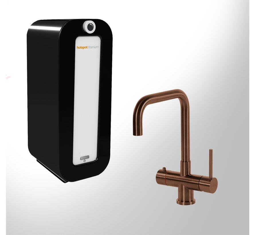 Vitoria Copper met Combi PLUS Titanium boiler