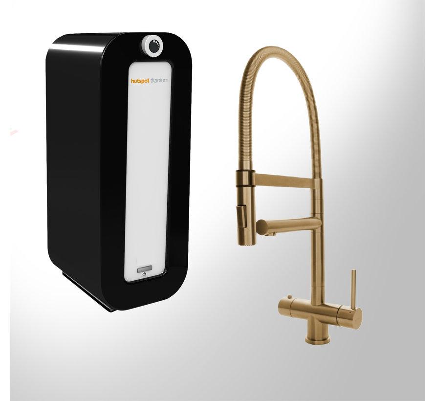 XL 3-in-1 Gold kraan met Combi PLUS  Titanium boiler