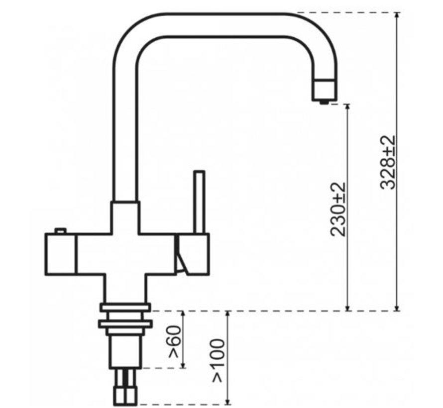 Vitoria Mat Zwart  met Single Titanium boiler