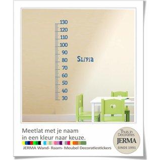 JERMA - Decoratie Groeimeter, Meetlat. met je naam